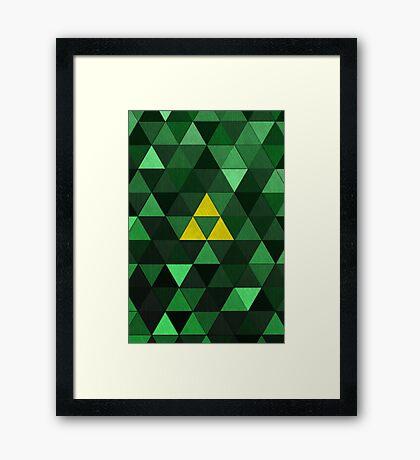 Triforce Quest (Green) Framed Print