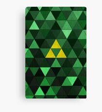 Triforce Quest (Green) Canvas Print