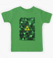 Triforce Quest (Green) Kids Tee