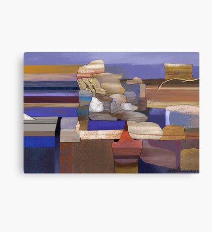 """Desert Rocks"" - colorful stacks of Arizona rocks. Metal Print"