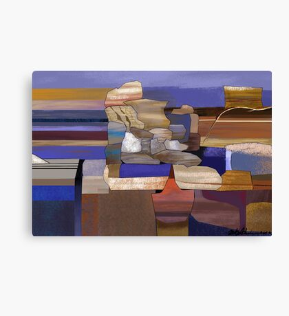 """Desert Rocks"" - colorful stacks of Arizona rocks. Canvas Print"