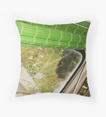 Driving into bullets Throw Pillow