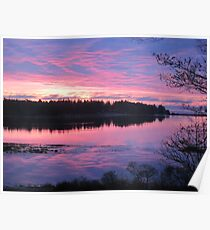 Sunrise over Oak Island, Nova Scotia Poster