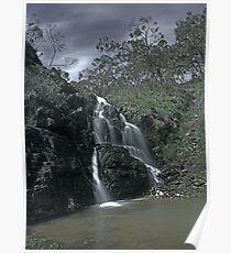 Third Falls Morialta in Moonlight Poster