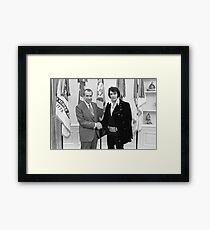Richard Nixon and Elvis Presley at the White House Framed Print