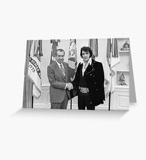 Richard Nixon and Elvis Presley at the White House Greeting Card