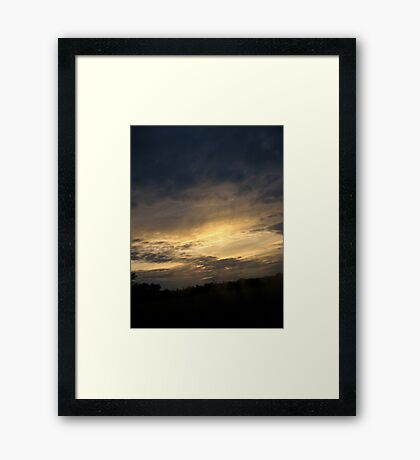 Sunset Passing By Framed Print