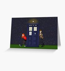 Amy Pond, the Doctor, and the TARDIS Greeting Card