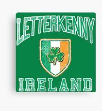 Letterkenny, Ireland with Shamrock Canvas Print
