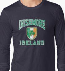 Inishmore, Ireland with Shamrock Long Sleeve T-Shirt