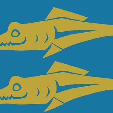 Blue Barracudas by CharlieNoHead