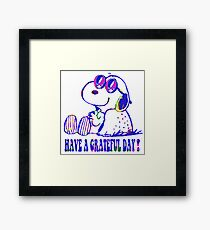 snoopy grateful day Framed Print