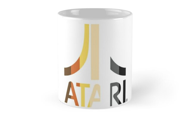 Atari Gold and Black Logo Mug