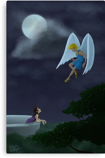 «Cupid and Psyche meet in the moonlight» de Kileigh Gallagher