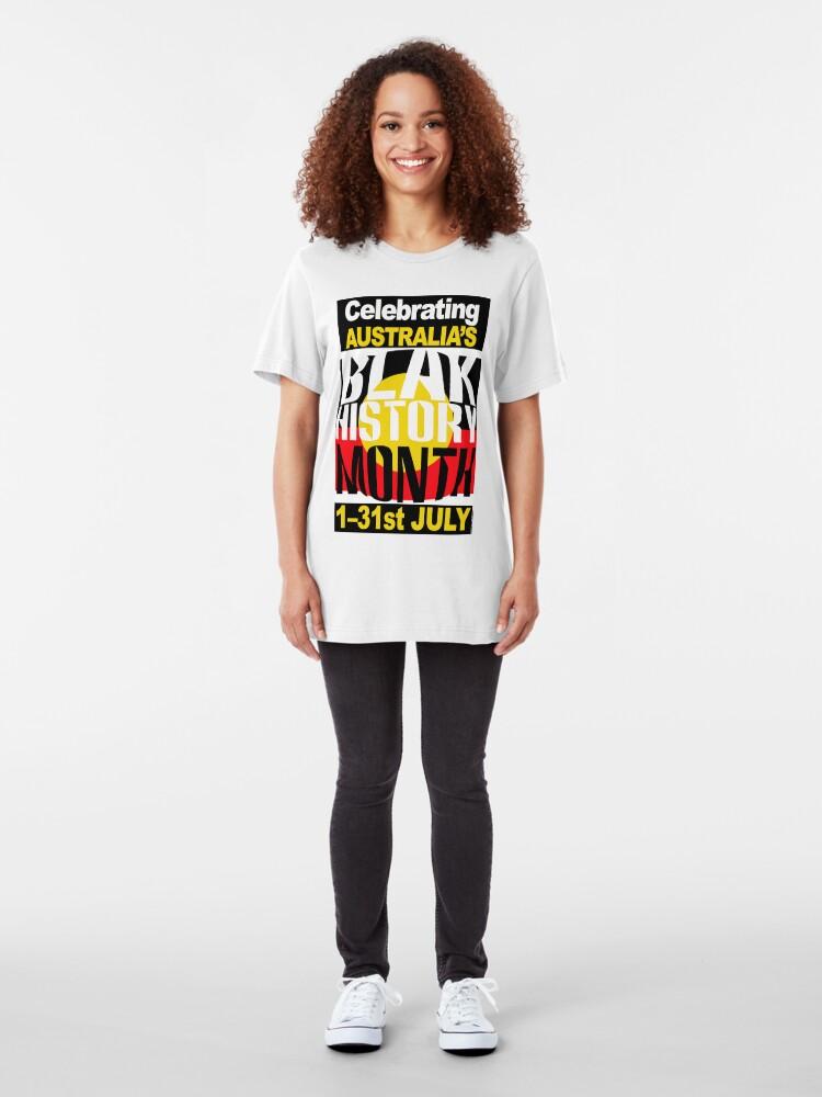 Alternate view of Australia's BLAK HISTORY MONTH [-0-] Slim Fit T-Shirt