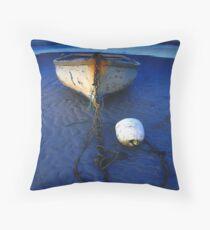 Dinghy On Sandbank  Throw Pillow