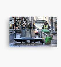 The Street Sweeper Metal Print