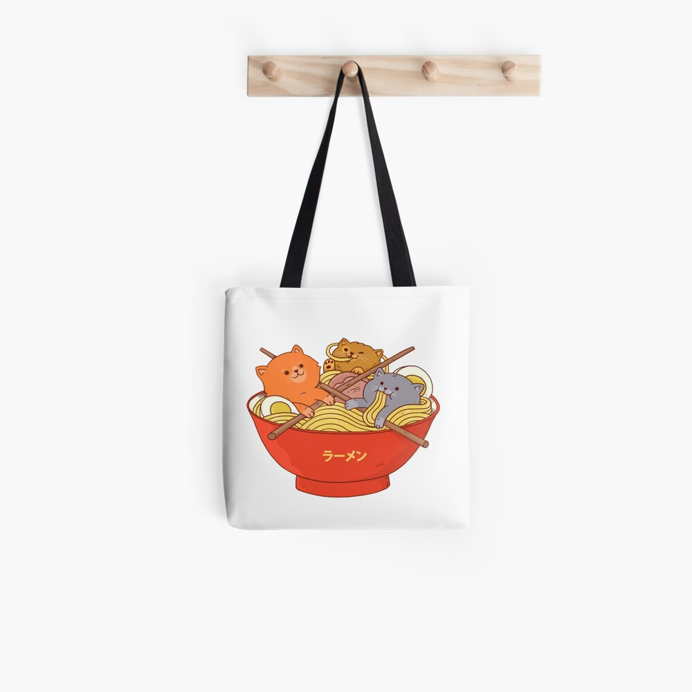Ramen and Cats Tote Bag