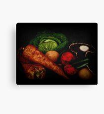 Still Life of Vegetables Canvas Print
