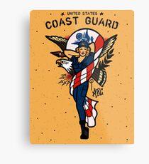 SJ Inspired Coast Guard Pinups - USCG Ensign Metal Print