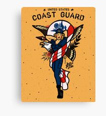 SJ Inspired Coast Guard Pinups - USCG Ensign Canvas Print