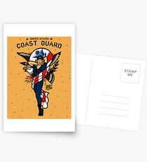 SJ Inspired Coast Guard Pinups - USCG Ensign Postcards