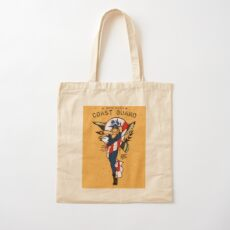 SJ Inspired Coast Guard Pinups - USCG Ensign Cotton Tote Bag