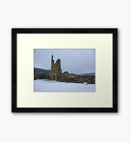 Winter at Byland Abbey Framed Print