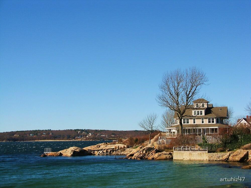 House At Niles Beach, Gloucester, Massachusetts by artwhiz47