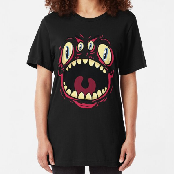 Vieräugiges Monster Slim Fit T-Shirt