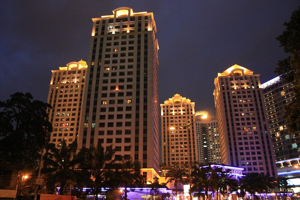 Apartemen Pavilion (by night) by buildings