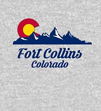 Fort Collins Colorado Shirt CO State Home City Tourist Travel Souvenir Skiing Gift  Kids Pullover Hoodie