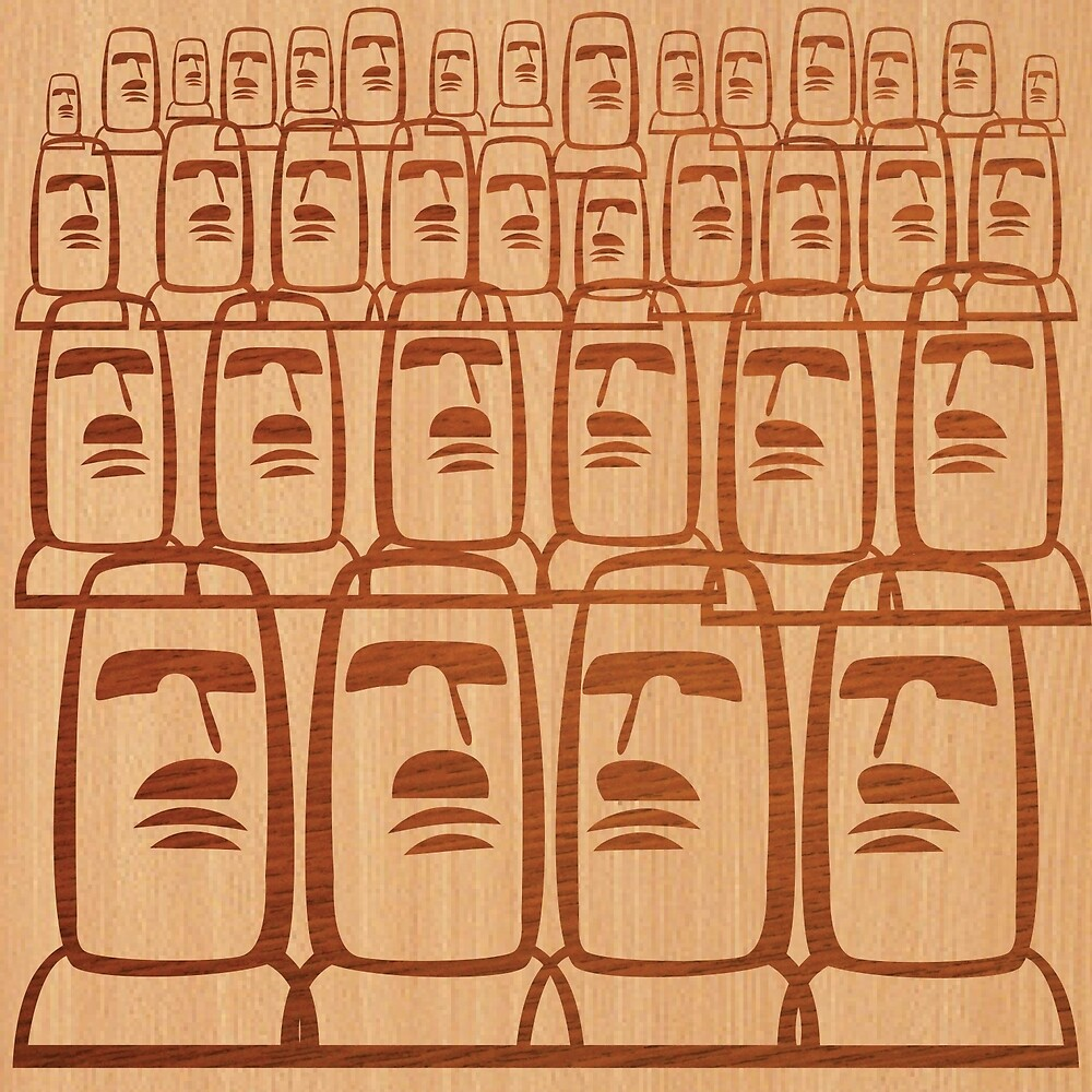 Easter Island - Rows by Kirsten Chambers