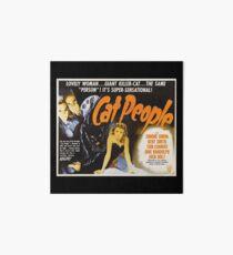 Cat People (1942) - Vintage Movie Poster Art Board Print