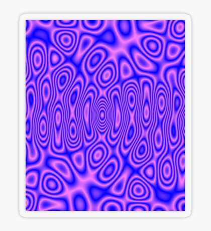 Pink Blue Cosmic Liquid Pattern Transparent Sticker