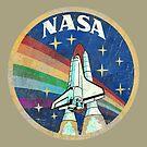 USA-Weinlese-Raketen-Regenbogen V01 von Lidra
