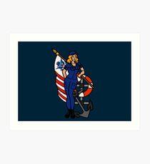 SJ Inspired Coast Guard Pinup 4 Art Print
