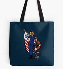SJ Inspired Coast Guard Pinup 4 Tote Bag
