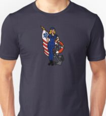 SJ Inspired Coast Guard Pinup 4 Slim Fit T-Shirt