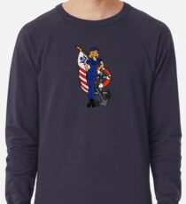 SJ Inspired Coast Guard Pinup 4 Lightweight Sweatshirt
