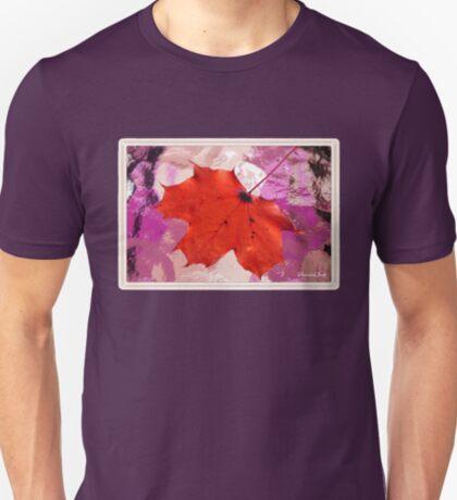 Autumn Leaf on a Wet Table T-Shirt