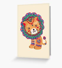 The Little King of the Jungle Greeting Card