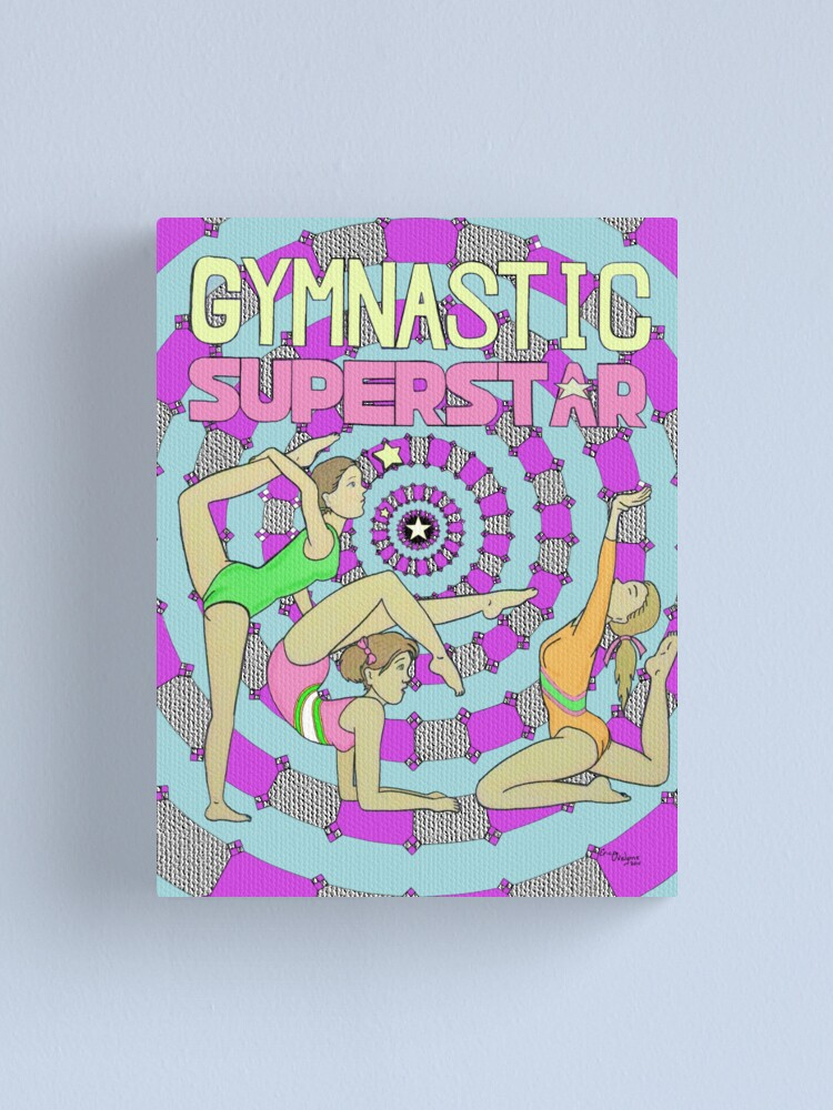 Alternate view of Gymnastic Superstar Canvas Print