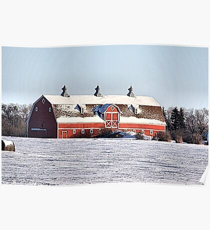 The Three Cupola Barn Poster