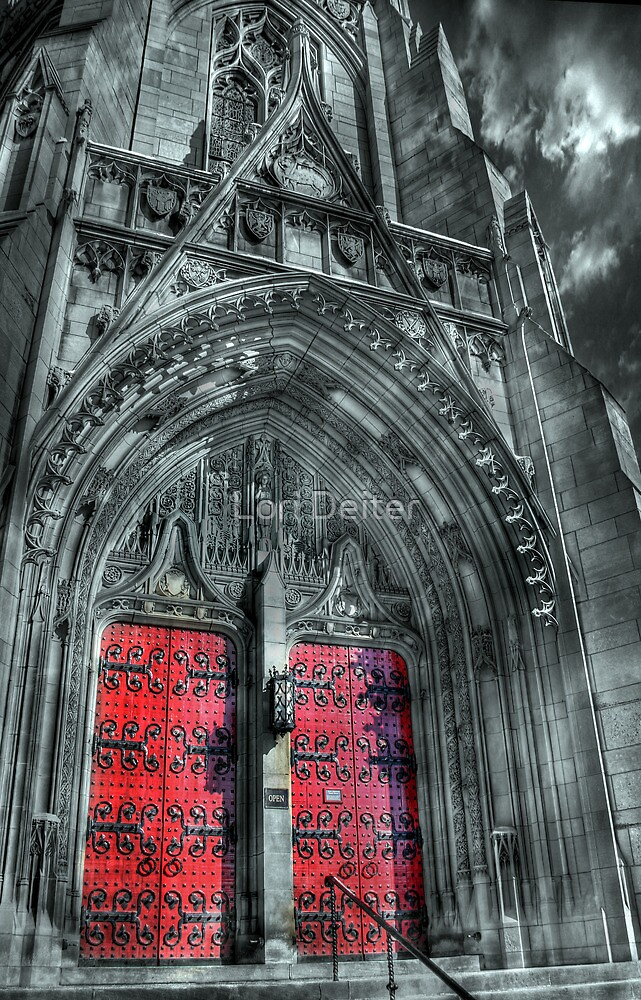 Heinz Chapel Entrance by Lori Deiter