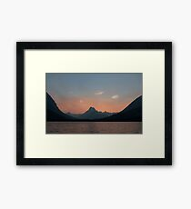 Sunset Over Mt. Wilbur And Swiftcurrent Lake Framed Print