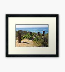 Del Mar Ocean View  Framed Print