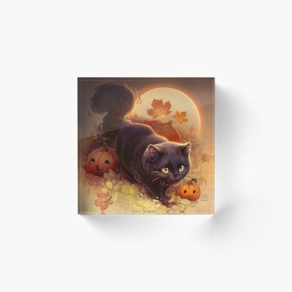 Halloween Kitty Acrylic Block