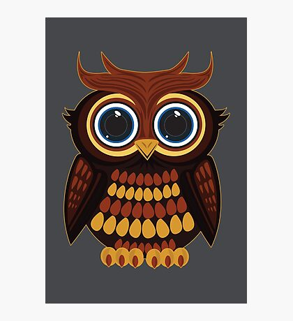Friendly Owl - Grey Photographic Print