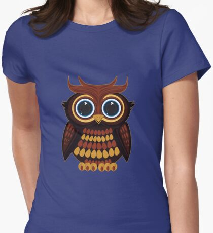 Friendly Owl - Blue T-Shirt